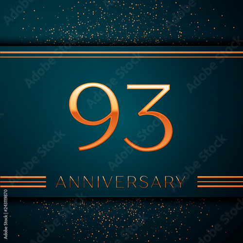 Fototapeta Realistic Ninety three Years Anniversary Celebration design banner