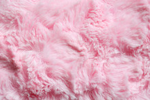 Pink Fur Background. Surface W...