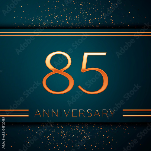 Fotografía  Realistic Eighty five Years Anniversary Celebration design banner