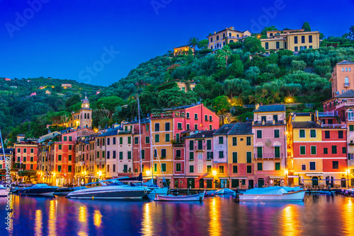 Tuinposter Liguria Picturesque fishing village Portofino, Liguria, Italy