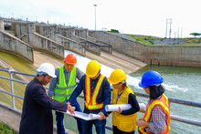 The Engineering Team Is Planning To Develop The Hydroelectric Dam To Generate Electricity.