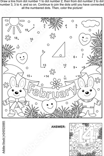 Valentine's Day Secret Message Connect the Dots and Coloring ... | 500x336