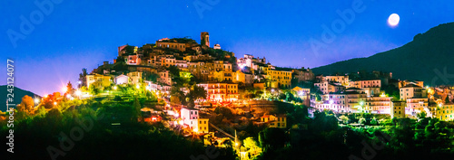 Foto auf Gartenposter Ligurien View of Perinaldo in the Province of Imperia, Liguria, Italy