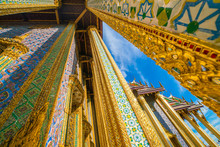 Golden Pagoda In Wat Phra Kaew Tourism Landmark Sightseeing Of Bangkok