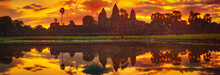 Angkor Wat Temple At Sunrise. ...