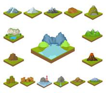 Mountains, Massive Cartoon Ico...