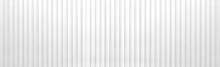 Panorama Of White Corrugated Metal Texture Surface Or Galvanize Steel Background