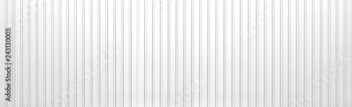 Panorama of White Corrugated metal texture surface or galvanize steel background Canvas
