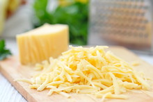 Grated Cheese On The Table