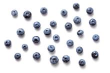 Fresh Ripe Blueberry Fruits Isolated On White Background