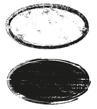 Grunge Oval Stamps