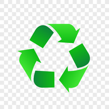 Green Recycle Emblem Isolated ...