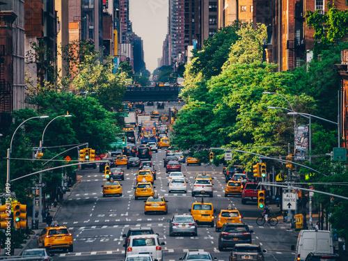 Deurstickers Amerikaanse Plekken Road traffic in New York