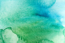 Watercolor Texture, Green Blue.