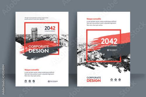 Fototapety, obrazy: City Background Business Book Cover Design Template