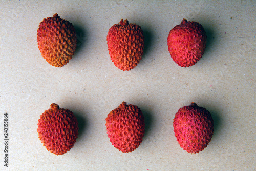 lychee fruit nobody paper background