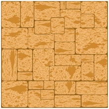 Simple Grungy Shell Rock Brick Wall Pattern Surface Texture Background