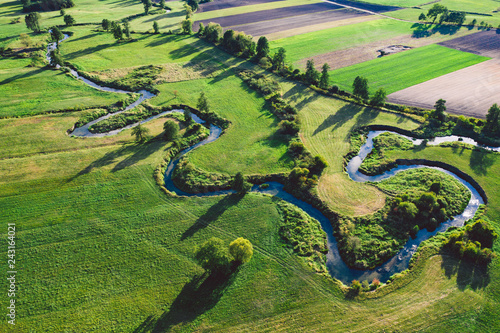 Printed kitchen splashbacks River A winding river surrounded by green meadows