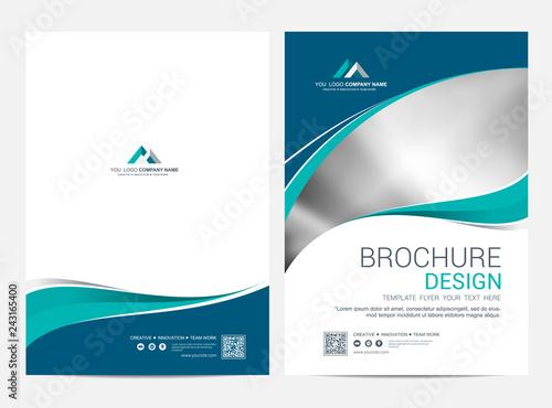 Fototapeta Brochure template flyer design vector background obraz