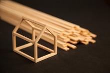 Miniature Model Of Wood Frame ...