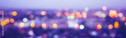 Fotografiet  City lights blur bokeh
