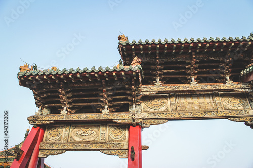 Photo  chinese temple roof
