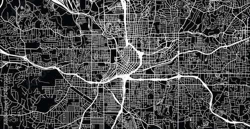 Cuadros en Lienzo Urban vector city map of Atlanta, Georgia, United States of America