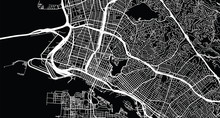 Urban Vector City Map Of Oakland, California, United States Of America