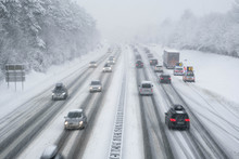 Snow Covered Highway In Austri...