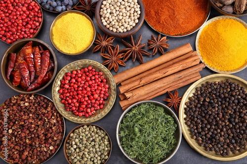 Keuken foto achterwand Kruiden Indian spices.
