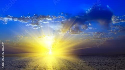 mystic sunset sky background