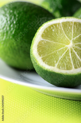 Fotografie, Obraz  Close-up lImes on a plate