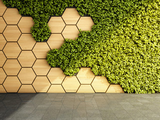 FototapetaVertical garden in modern interior