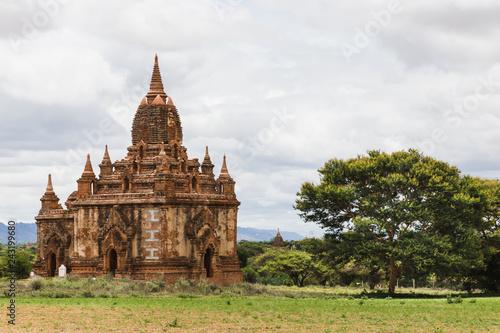 Foto  View of a temple in Bagan, Myanmar