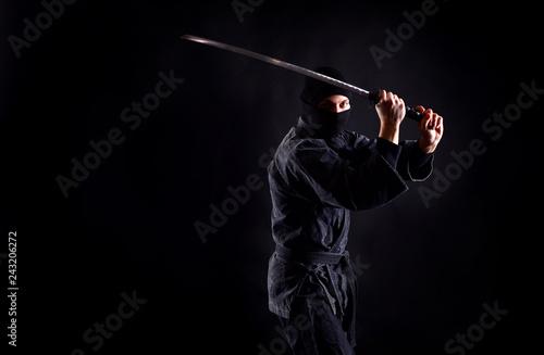 Fotomural Ancient warrior ninja with sword