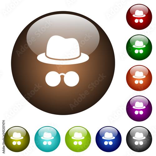Fotografía  Incognito with glasses color glass buttons