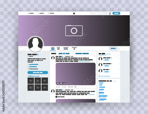 Photo Browser interface twitter, Mock up website