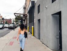 Cool Hipster Woman Walking