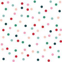 Confetti Polka Dots Seamless Pattern