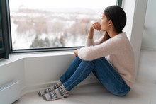 Depressed Young Girl Feeling S...