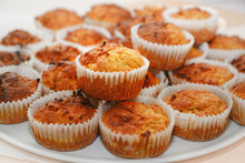 Homemade Carrot Muffins In Pap...