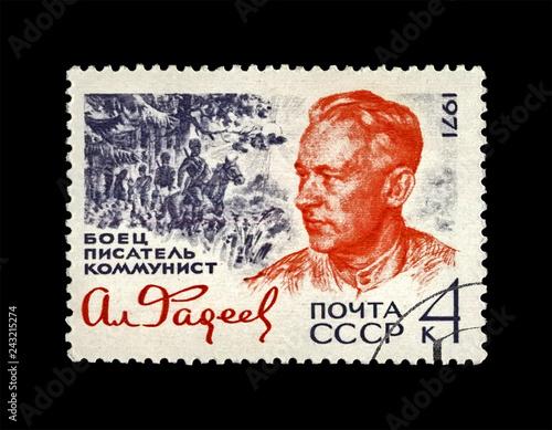Photo  Fadeyev Alexander (1901-1936), famous russian writer, circa 1971