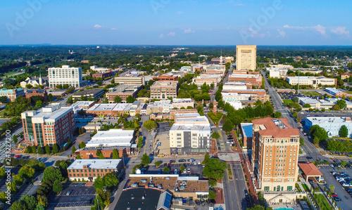 Fotografia, Obraz Spartanburg, South Carolina SC Aerial