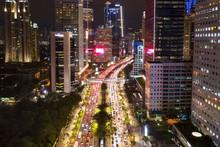 Night View Of Sudirman Road At...