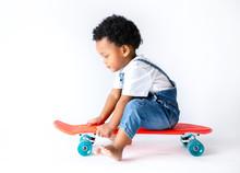 Cute Little Boy Sitting On A S...