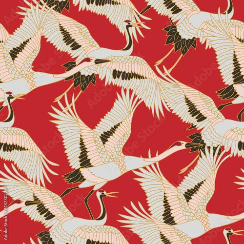 Fotografia Japanese japanese stork or pattern