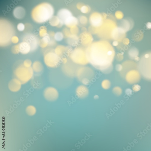 Fototapety, obrazy: Abstract warm background with orange blur bokeh light effect. Soft colors holiday backdrop. EPS 10