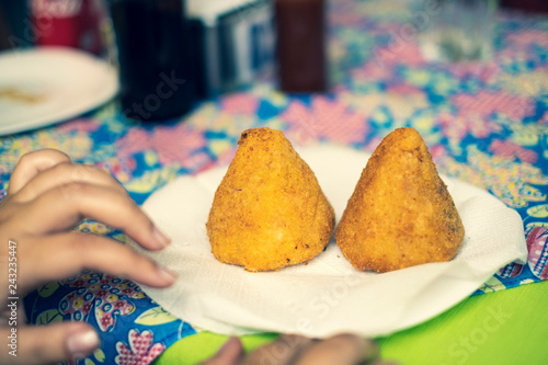 Photo  Brazilian chicken croquette coxinha