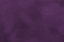 Dark Purple Matt Suede Fabric Closeup. Velvet Texture.