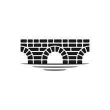 Brick Bridge Logo, Classic Building Design Inspiration